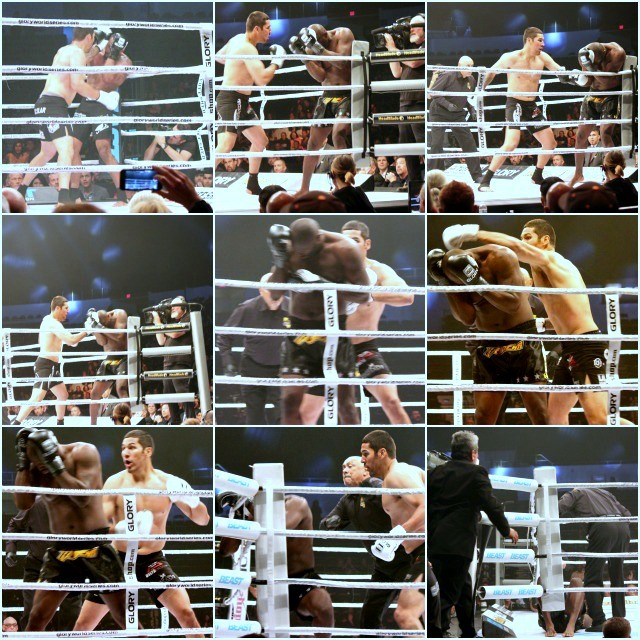 640 collage of Xavier's fight