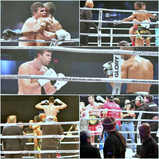 Photos top show the constant holding/clinching by Artem Levin that almost cost him the title. Photos: Jim Wyatt