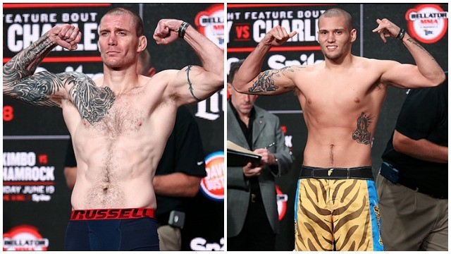 Bellator Welterweight Fight: Steve Mann (169.8) vs. Justin Guthrie (170.3). All photos courtesy of Bellator MMA.