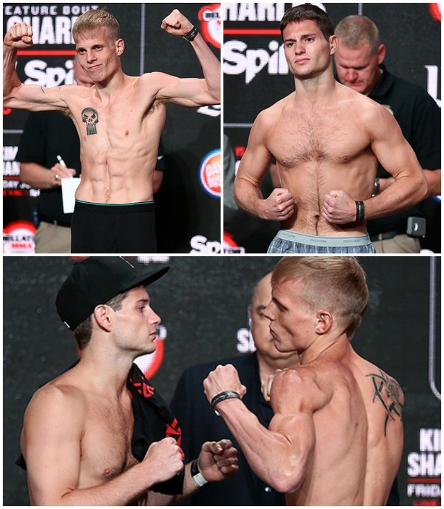 Bellator Bantamweight Fight: A.J. Siscoe (135.5) vs. Garrett Mueller (135.6). All photos courtesy of Bellator MMA.