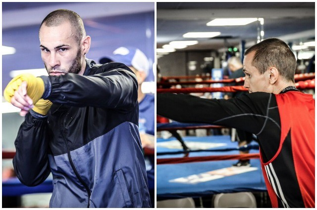 (l to r) Jose Pedraza vs Andrey Klimov. Photos courtesy of Stephanie Trapp/Showtime Boxing