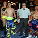 "On Thursday evening at the Sports Bar ""Perro Salido"" (translation: The Salty Dog), the Fight of the Night turned out to be the Manuel Roman versus Pedro Palma nonstop, toe to toe, slugfest.  Photo: Jim Wyatt"