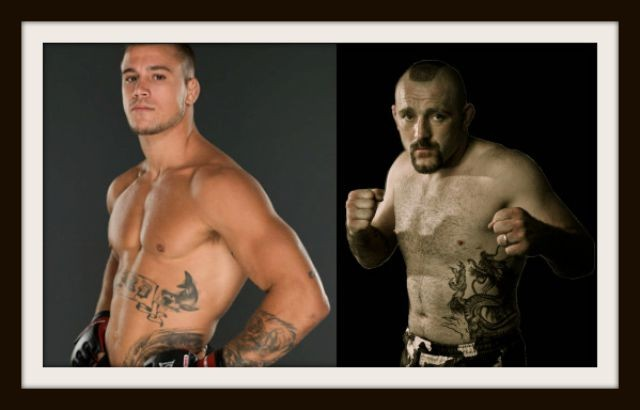 (l to r) Bellator Welterweight Feature Fight: Brennan Ward (10-3) vs. Roger Carroll (16-11)