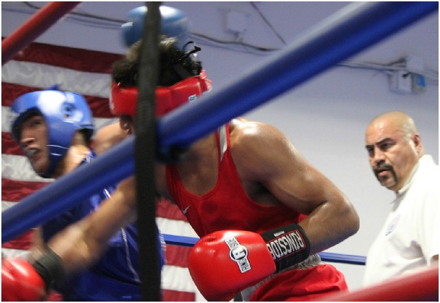 This punch, a well placed overhand right by Abraham Martinez was more than likely the turning point in this contest. pun
