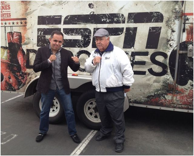 The wild and crazy combo of Saul Rios (l) and Lou Messina (r) make up the management of the Borizteca Boxing Management Group.