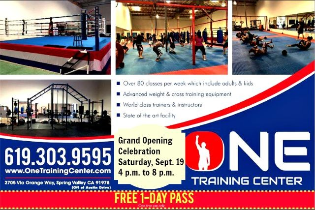 It won't be easy for the newcomers like Spring Valley's One Training Center. On Saturday, September 19th, they celebrated their Grand Opening.