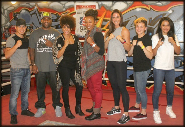 Genaro Gamez On hand to view the show were 2016 Olympic Trials Qualifiers (l to r) Stalacia Leggett, Raquel Miller, Danyelle Wolf, and Junior Olympic Champions Andrea Medina and Jessica Juarez.