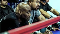 (l to r) Coach Basheer Abdullah and head boxing coach Joe Vargas watch the action