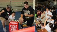 One of the fun things at Saturday's show was the raffle. (photo, left) The Barragans had The youngster chosen to pick the winning raffle tickets was none other than Sayri Cruz, Brandon Cruz's younger brother. Here we see young Mr. Cruz with the show's organizer Carlos Barragan Jr. and his son. One of the invite guests was who has been on the mends since he was hit by a motorist while out jogging.