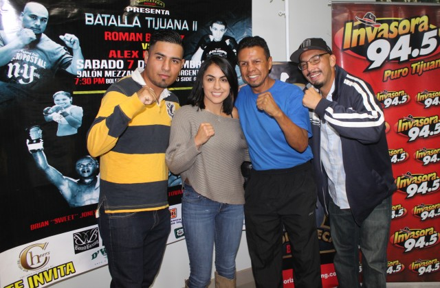 "(l to r) Juan Carlos Moreno, Amaris Quintana, Manuel ""Mantecas"" Medina and Jorge Escalante. Medina professional fighter at the age of 14 years, has held versions of the World Featherweight title five times (IBF three times, WBC one, and WBO times), between 1991 and 2003."