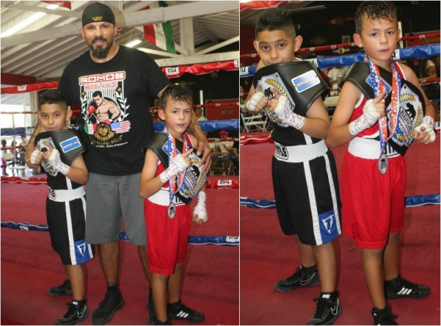 You talk about a proud coach, here we see Juan Romo with his boxers Isaiah Bernal and Jahir Romo.