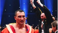 Tyson Fury celebrates as he defeats Wladimir Klitschko to become new World Heavyweight Champion during the IBF IBO WBA WBO Heavyweight World Championship contest at Esprit-Arena on November 28, 2015 in Duesseldorf, Germany. (Photo by Lars Baron/Bongarts/Getty Images)