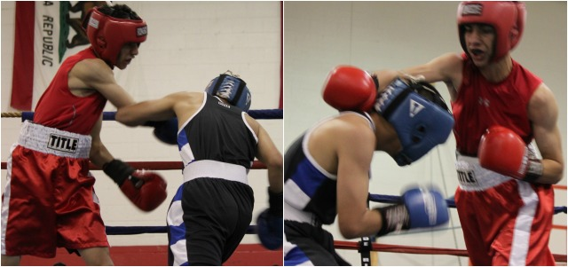 On Saturday, Erik West of the Lee Espinoza Bout #12 featured 18 year-old Erik West (122 lbs., 21 bouts) from the Lee Espinoza Coachella Valley Boxing Club, Coachella, Calif. going up against 17 year-old Angel Castro (119.6 lbs., 2-6) of the Baja Boxing Club, Calexico, Calif.