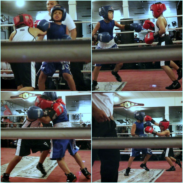 In Bout #5 Isaiah Bernal (red gloves) and Gael Mez (blue gloves) often had their heads clashing