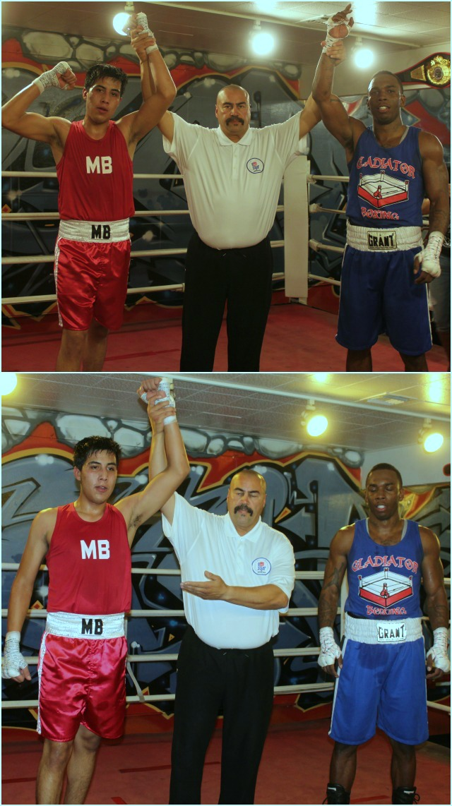 At the conclusion of bout #10, we saw referee Hondo Fontan raising the arm of the victorious Martin Ramirez. Martin