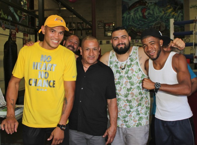 (l to r) Jose Uzcategui, Santillan, Jose Cital, Angel Rodriguez.