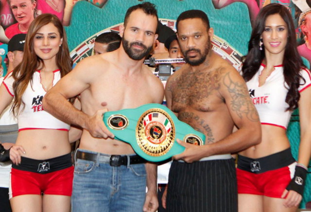 "Ramón 'Inocente' Álvarez (22-4-2, 14 KOs) a 29 year-old orthodox fighter from Guadalajara, Jalisco, Mexico (154 lbs.) vs 37 year-old, James ""Shotgun"" Winchester"