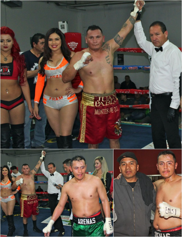 (top) We have Juan Pablo Montes de Oca of Tijuana in his pro debut.
