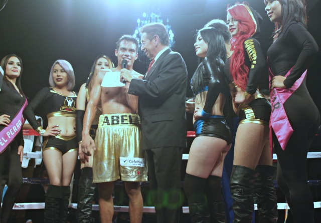 At the conclusion of Bout #7, Fernando Paramo interviewed the victorious Abel Rueda of Merida, Yucatan, Mexico.
