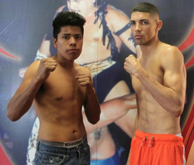 (l to r) Super bantamweights Gonzalo Lopez (2-2) from Tijuana and 26 year-old Marcos Forestal from Los Angeles by way of Havana, Cuba.