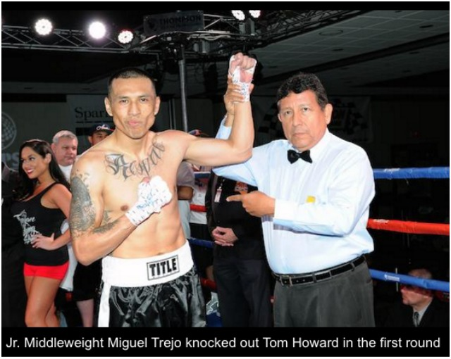 Miguel Trejo arm raised