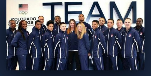 Before leaving for the Olympic Training Center in Colorado Springs, Colorado for the Americas Olympic Qualifier in Buenos Aires, Argentina, the twelve U. S. Olympic Trials Champions and four of their coaches posed for a photo. Beginning March 12, the 12 will be battling it out for what they feel is their rightful spot in the 2016 Olympics. Photo courtesy of USA Boxing