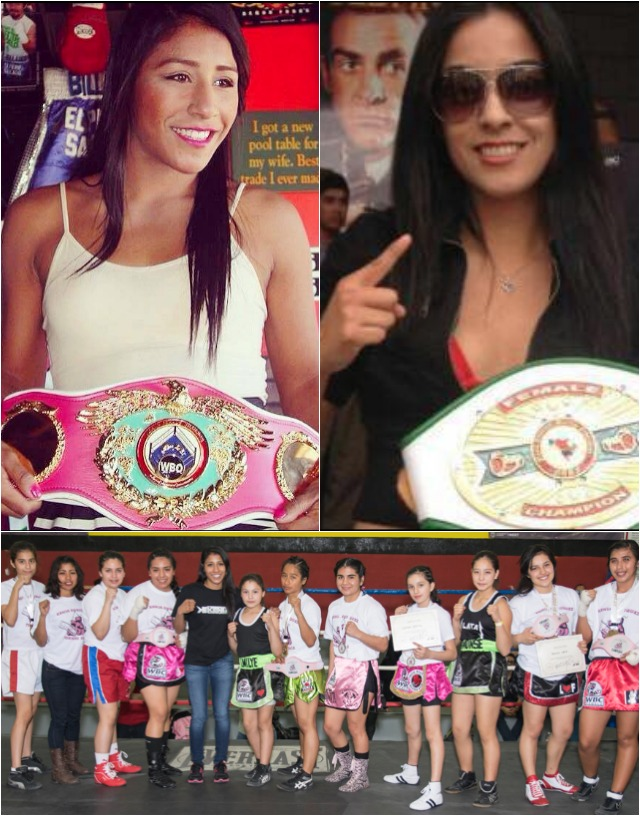 (top) The two star attractions, Kenia Enriquez (l) and Amaris Quintana (r). Below is a photo from Kenia Enriquez 2015 Female Amateur Boxing Tournament.