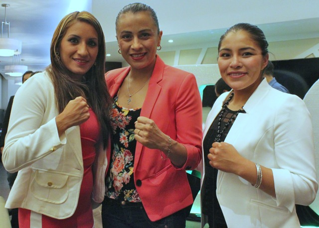 "(l to r) Esmeralda Moreno, Irma ""Torbellino"" Garcia and Ibeth ""La Roca"" Zamora. Photo: Jim Wyatt"