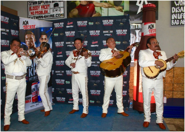 Authentic and festive, the Mariachi Band did a spledid job. Photo: Jim Wyatt