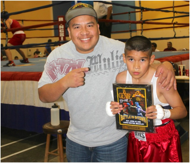Once again there was a proud father, Ricardo Aguirres Sr. wanting a photo with his son.