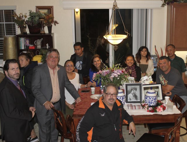 After the ceremony the long distance travelers were treated to a meal at the Chaney residence.