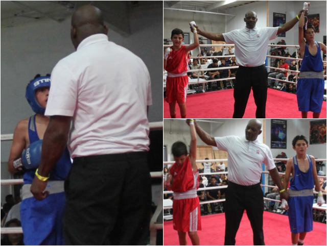 After Ballo's two-punch combination landed, referee Gerald Cheatham could see Serna needed a breather