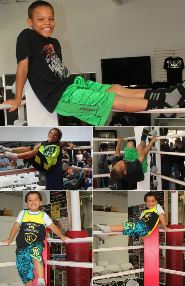 It appears the entertainment never stops at the Bound Boxing Academy. If you left early you missed this gymnastic team.
