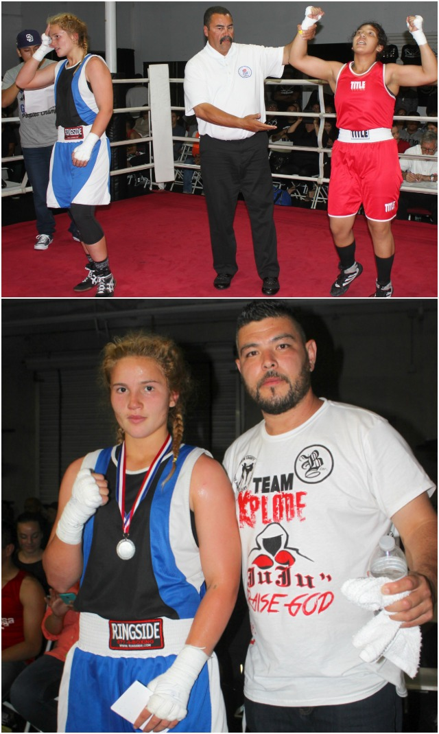 At the conclusion of their bout, it was Citlali Ortiz having her arm raised in victory by referee Hondo Fontane.