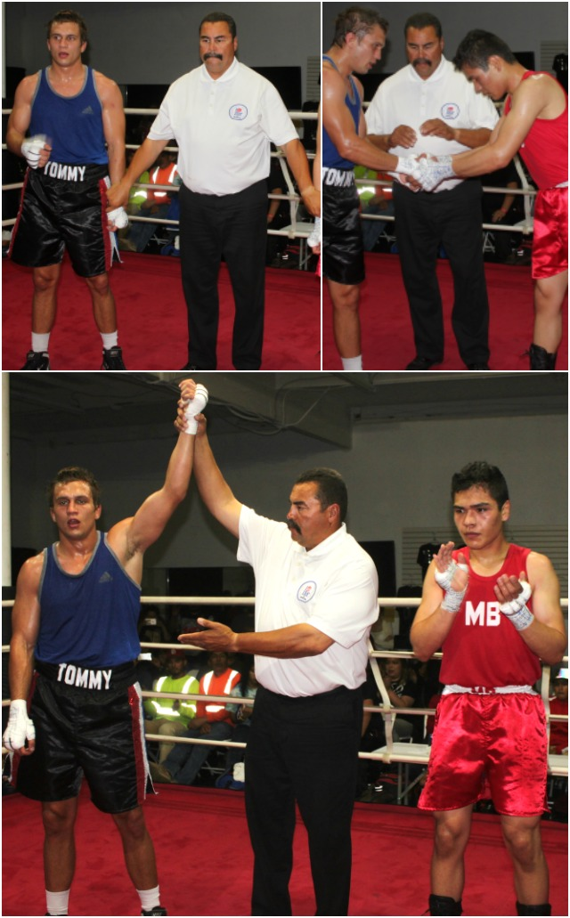 At the conclusion of Bout #8 it was Tom Watson from The Arena having his arm raised in victory.