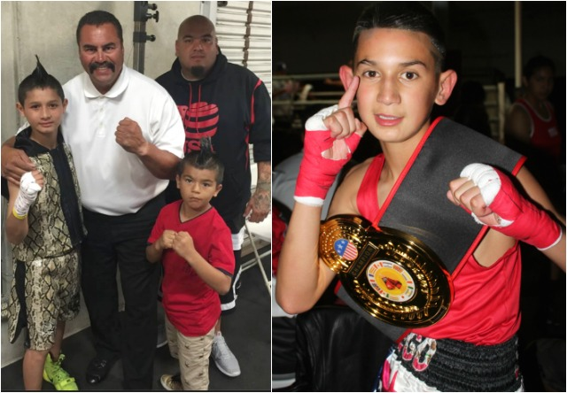 At the conclusion of their close contest, it was Diego Luna of the host gym Bound Boxing Academy. All photos: Jim Wyatt