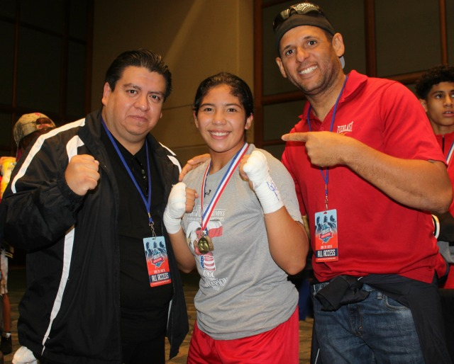 Junior female/154 lbs: Citalli Ortiz of Coachella, Calif., won by a unanimous decision over Gloria Zaragoza, Corpus Christi, Texas.