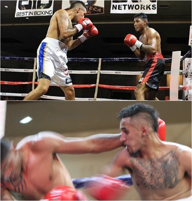 Often times it is that one big punch that turns the tied.(bottom photo) This big overhand right put Valdominos in the driver's seat.