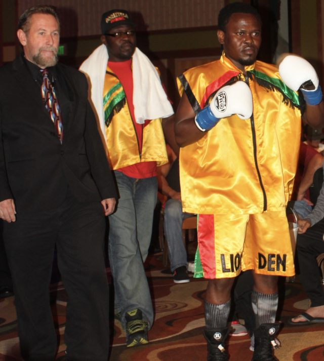 The veteran Ben Odamattey from Silver Springs, Maryland by way of Accra, Ghana makes his way to the ring.