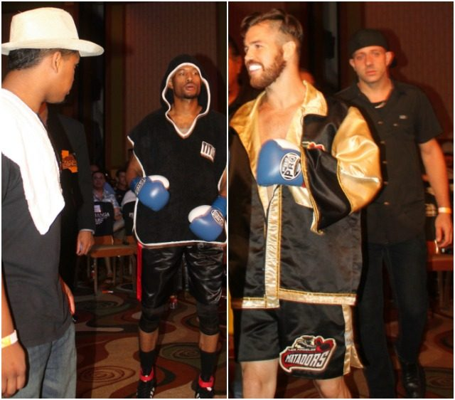 Confidence reigns as the boxers make their way to the ring for Bout #6