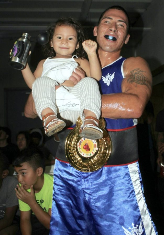 One of Cesar Loeza's biggest fans is daddy's little girl.