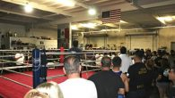 Before beginning  Friday's show at the Bound Boxing Academy in Chula Vista, the packed house stood for the rendition of the National Anthem.