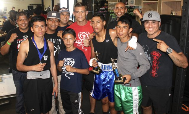 At the conclusion of Bout #12, all of Aron Avila's coaches and stable