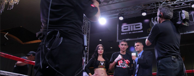 """Saul """"Bebe"""" Hernandez is interviewed after his dramatic split decision victory."""