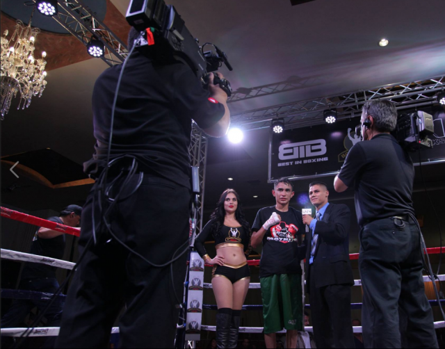 "Saul ""Bebe"" Hernandez is interviewed after his dramatic split decision victory."