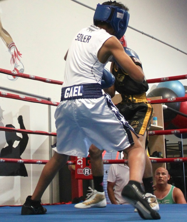 Bout #1 featuring Angel Gastan of Aztec Boxing and Gael Soler of United Boxing, Chula Vista, Calif.