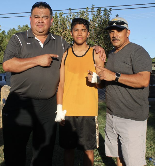 (left to right) coach Henry Villegas