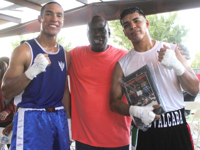 After their exciting match, they were joined by former boxing great Ronald Gray who once had the opportunity to fight Shane Mosely. Gray, Greg Diaz and Henry Villegas were once stablemates at the gym in Brawley, Calif.