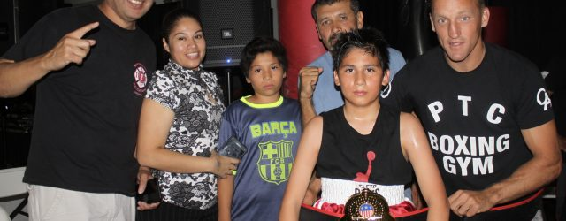 On hand to see Alejandro Ulloa win his second USA Amateur Boxing bout is his Mom, brother, coach, the National City CYAC Director and a gentleman (right) who looks a lot like actor Woody Harrelson. So much fanfare for a developing boxer.