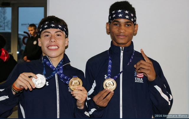 (l to r) It is Marc Castro and Delante Johnson bringing home the gold for the US at this week's